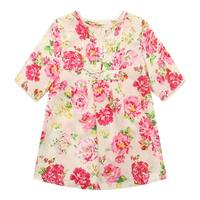 Richie House Girls' Flower Patterned Dress