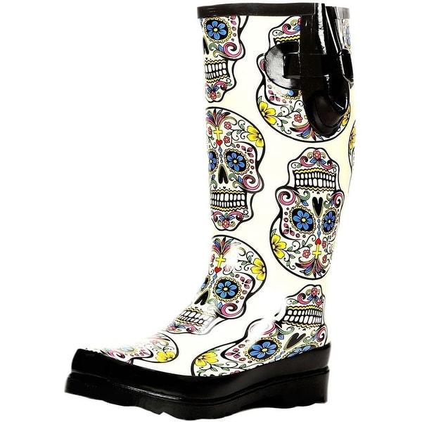 Blazin Roxx Womens Outdoor Boots Rocki Rubber White Black