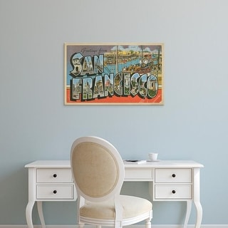Easy Art Prints Unknown's 'Greetings from San Francisco' Premium Canvas Art