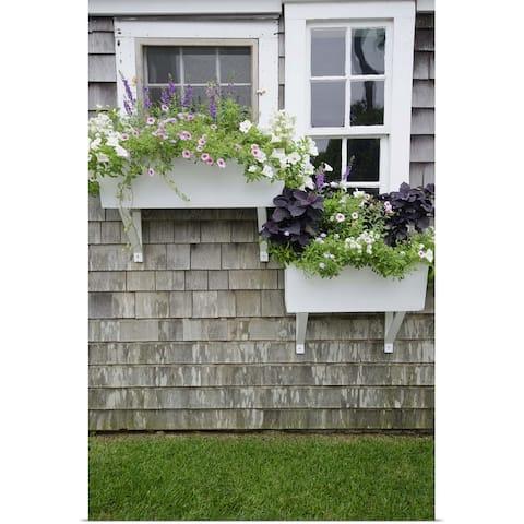 """Window Boxes, Nantucket"" Poster Print"