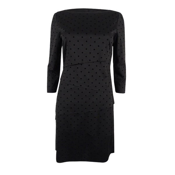 338953cd4b43 Shop Tahari ASL Women's Tiered Polka-Dot Sheath Dress - Black - Free  Shipping Today - Overstock - 18302910