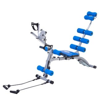 Costway Multi-functional Twister AB Rocket Abdominal Trainer Core Trainer Bench Stepper Blue
