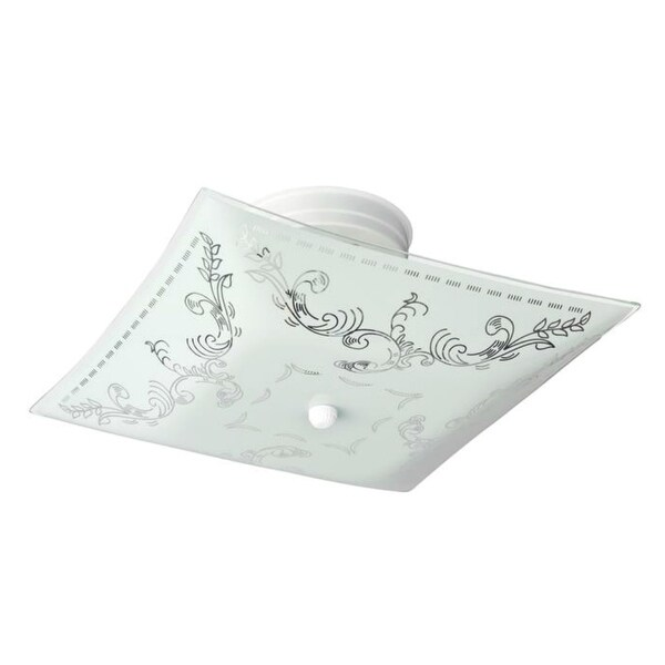 "Westinghouse 66263 Semi-Flush Ceiling Fixture, 12""X 6"", White"
