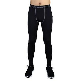 Men Sports Compression Base Layer Tights Running Long Pants Black W38