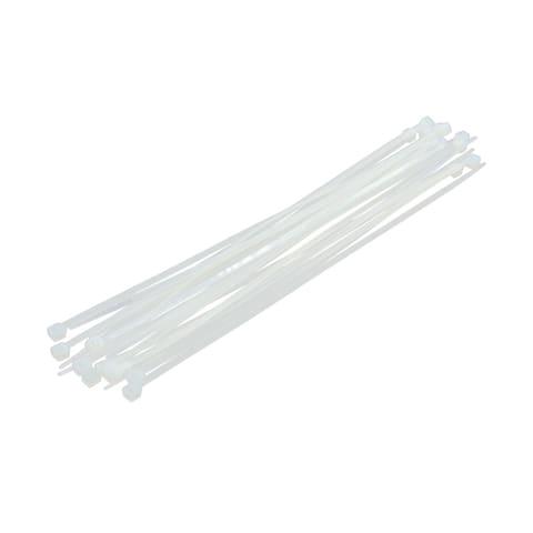 20pcs 4 x 200mm White Plastic Nylon Fastener Cable Tie Strap Ribbon for Car