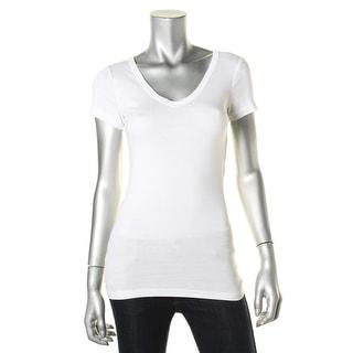 Michael Stars Womens Metallic V-Neck T-Shirt - o/s