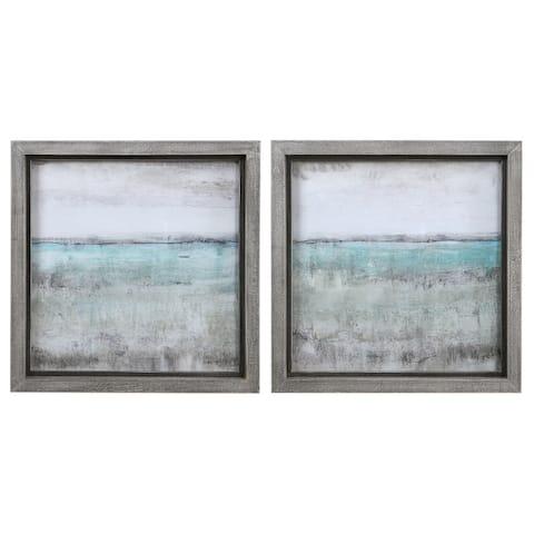 Uttermost Aqua Horizon Framed Prints (Set of 2)