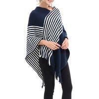 QZUnique Women's Sweater Cape Pullover Shawl Knit Poncho-Like Wrap