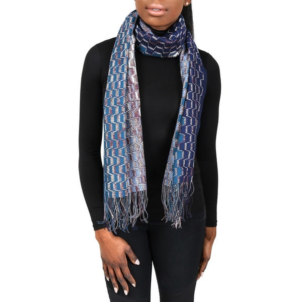 Missoni SC31PSD5929 0002 Blue/Purple Wool Blend Womens Scarf - 17.5 - 71.5