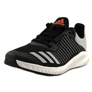 Adidas FortaRun K Youth W Round Toe Synthetic Black Running Shoe