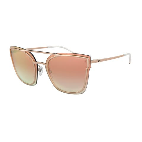 Emporio Armani EA2076 31676F 63 Rose Gold Woman Irregular Sunglasses