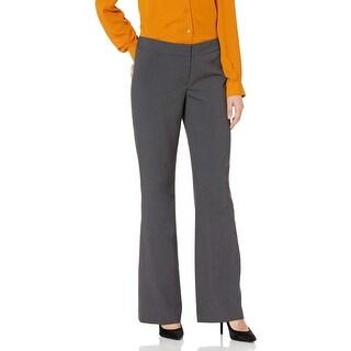 Nine West Women's Gray Size 8 Modern Flare Leg Dress Pants Stretch