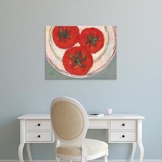 Easy Art Prints Samuel Dixon's 'Plate with Tomato' Premium Canvas Art