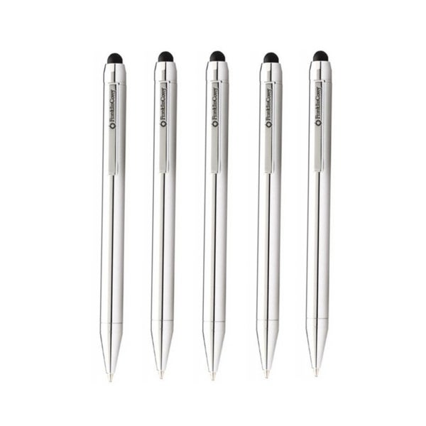 """Cross FranklinCovey Newbury Ballpoint Pen and Stylus (Chrome, 5-Pack) - 4.82"""". Opens flyout."""