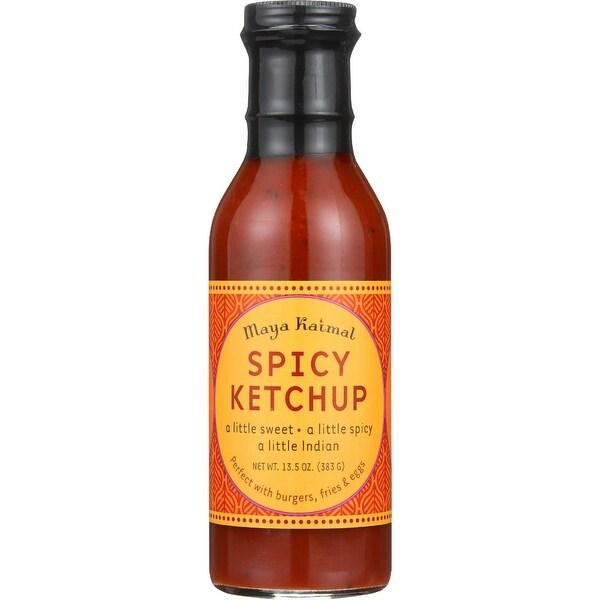 Maya Kaimal Ketchup - Spicy - 13.5 oz - case of 6