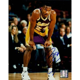 Signed Lynch George Los Angeles Lakers 8x10 Photo autographed