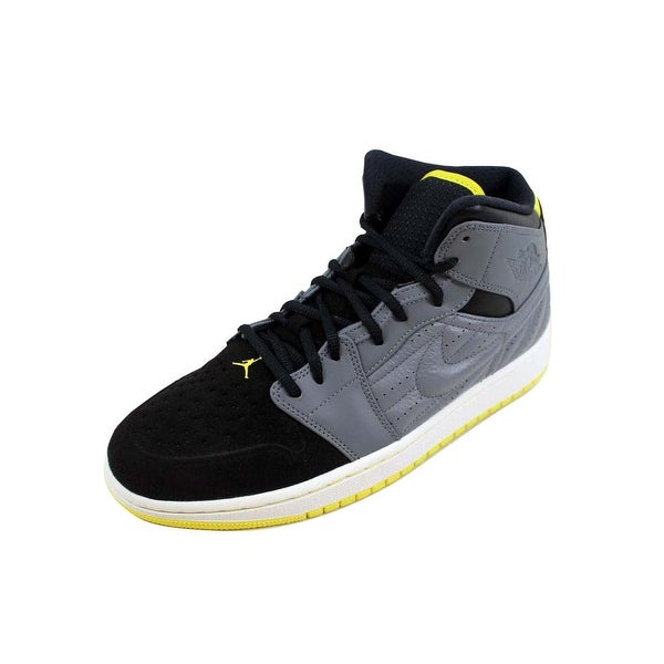 Shop Nike Men s Air Jordan I 1 Retro  99 Cool Grey Vibrant Yellow ... f1d504eb2