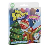 Mr. Sketch STIX Scented Washable Markers, Holiday Scents and Colors, Set of 6