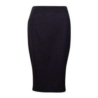 INC International Concepts Women's Solid Crepe Zipper Skirt