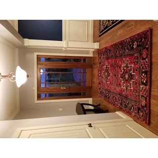Safavieh Vintage Hamadan Traditional Red/ Multi Rug (5' x 8')