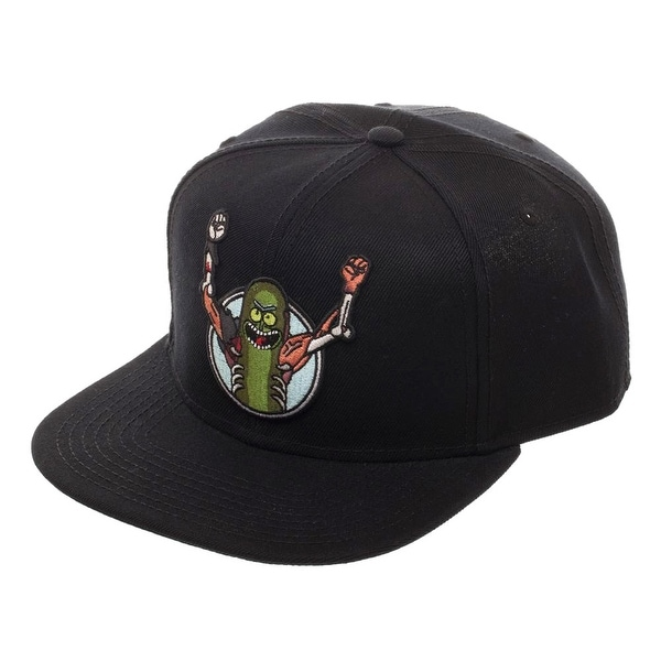 aa921629bdff Shop Rick & Morty Pickle Rick Hat - Snapback - Free Shipping On Orders Over  $45 - Overstock - 22466349