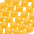 Czech Glass Round Party Beads 6mm - Neon Yellow (1 Strand / 29 Beads) - Thumbnail 0
