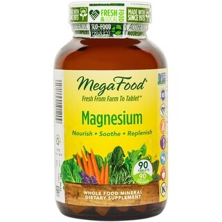 MegaFood - Magnesium, Supports the Health of the Heart & Nervous System, 90 Tablets