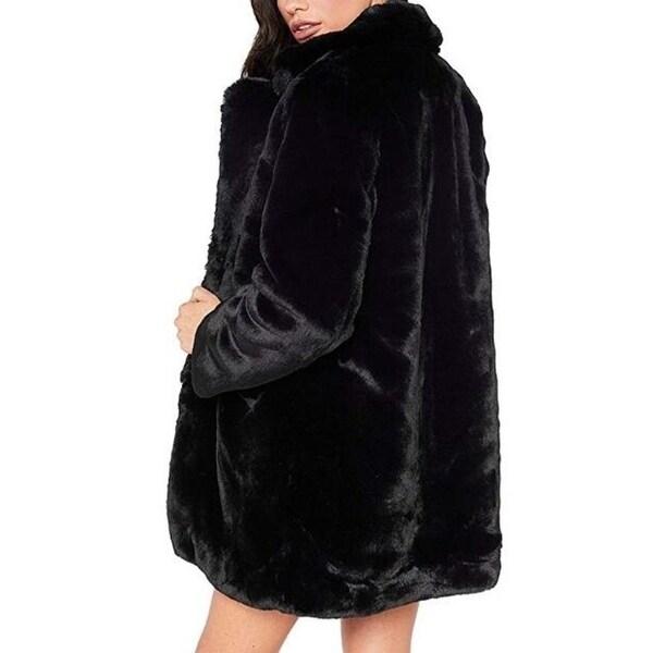 Womens Winter Warm Faux Fur Coat Jacket Overcoat Outwear With Pockets. Opens flyout.