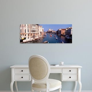Easy Art Prints Panoramic Images's 'High angle view of gondolas in a canal, Grand Canal, Venice, Italy' Canvas Art