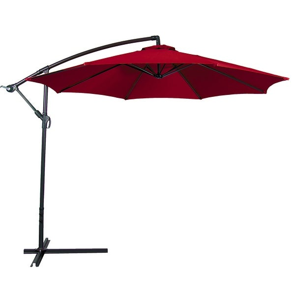 Belleze Outdoor Patio Umbrella 10 X27 Feet Tilt W Crank Uv Resistant Water