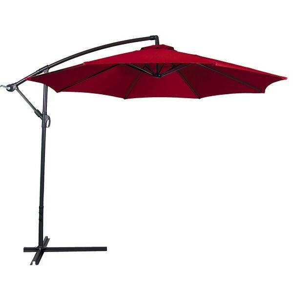 Belleze Outdoor Patio Umbrella 10u0026#x27; Feet Tilt W/ Crank UV Resistant  Water