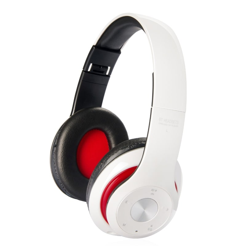 Premium Bluetooth 4.1 Over-Ear Headphones with MicroSD Slot - Assorted Colors - Thumbnail 0