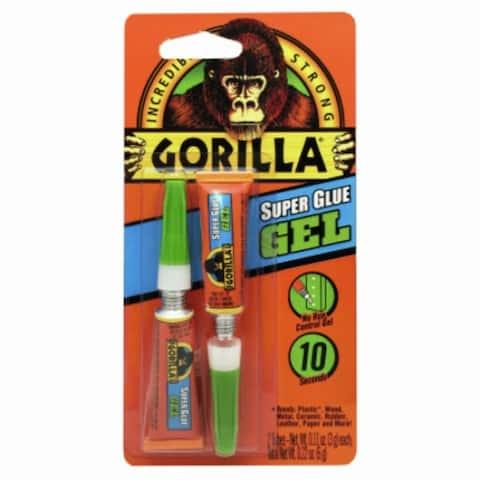 Gorilla 7820002 Incredibly Strong Super Glue Gel, 3 Gram, 2-Pack