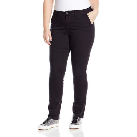 Celebrity Pink Womens Pants Plus Straight Mid-Rise Stretch