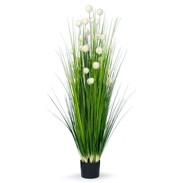 4.75 Feet High Artificial Reed with Decorative White Balls