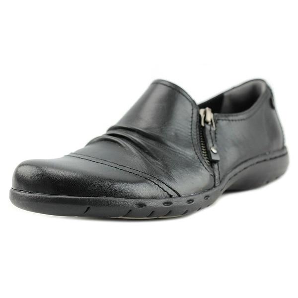 Rockport Penfield Zip Shoe Women W Round Toe Synthetic Black Loafer