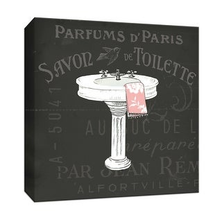 "PTM Images 9-152746  PTM Canvas Collection 12"" x 12"" - ""Chalkboard Bath I"" Giclee Faucets Art Print on Canvas"