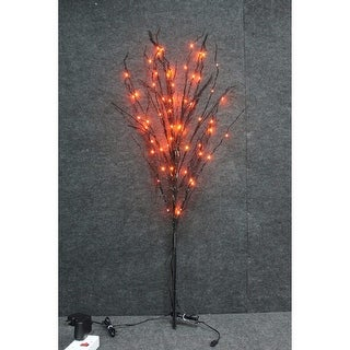 Christmas at Winterland WL-DTR-03-BK Halloween 3 Foot Tall Spooky Black Branch Lit Tree with LED Lights - N/A
