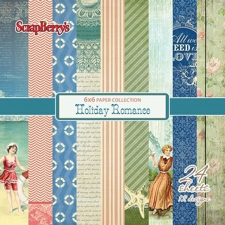 "Scrapberry's Holiday Romance Paper Pack 6""X6"" 24/Pkg-12 Single-Sided Designs/2 Each"