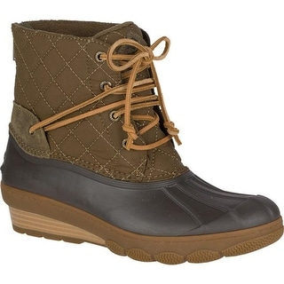 059a9c356f00 Shop Sperry Top-Sider Women s Saltwater Wedge Tide Duck Boot Brown  Textile EVA - Free Shipping Today - Overstock - 18911584