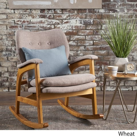 Braant Mid Century Fabric Rocking Chair by Christopher Knight Home