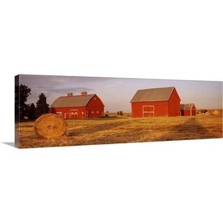 """Red barns in a farm, Palouse, Whitman County, Washington State,"" Canvas Wall Art"