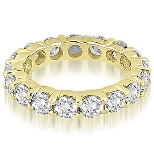 4.25 cttw. 14K Yellow Gold Round Shared Prong Diamond Eternity Ring