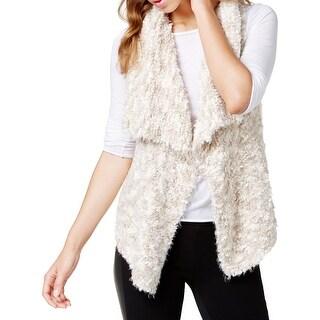 Kensie Womens Vest Chunky Knit Drapey