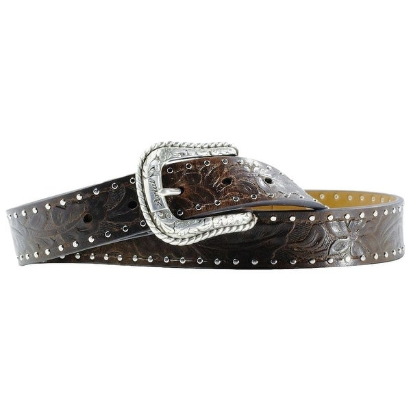 Ariat Western Belt Womens Leather Work Embossed Bark