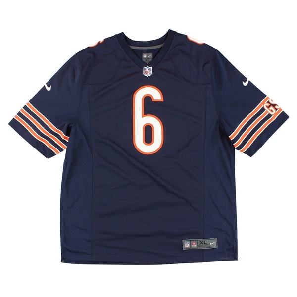 2f20f565f71 Shop Nike Mens Chicago Bears Jay Cutler Game Jersey Navy Blue - navy blue orange white  - XL - Free Shipping Today - Overstock.com - 22615142