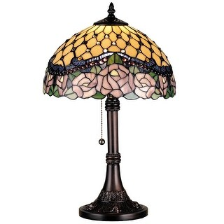 19.5 Inch H Jeweled Rose Table Lamp