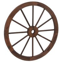 Gift Corral Western Wagon Wheel Wood Decoration Brown