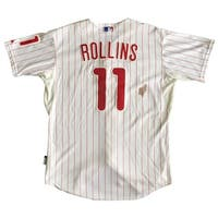 Jimmy Rollins Signed Phillies Game Used Pinstripe Jersey Rollins LOA