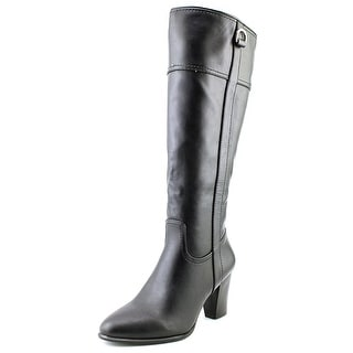 Alfani Carcha Wide Calf Women  Round Toe Synthetic Black Knee High Boot